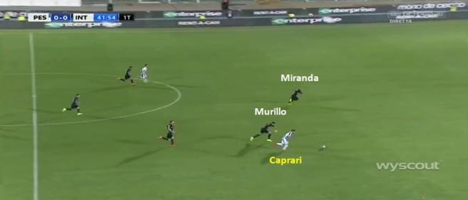 il numero di Caprari evidenzia le difficoltà difensive dell'Inter nel gestire il contropiede del Pescara.jpg